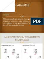 Multilplicacion de Numeros Naturales Dpstv