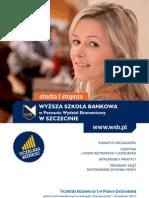 Informator 2012 - studia I stopnia - Wydział Ekonomiczny w Szczecinie Wyższej Szkoły Bankowej w Poznaniu
