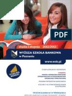 Informator 2012 - studia I stopnia - Wyższa Szkoła Bankowa w Poznaniu