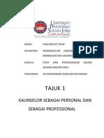 ISU DAN ETIKA DALAM KAUNSELING - Kaunselor Sebagai Personal dan Sebagai Profesional