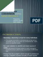 Solar Energy Conversion Using