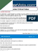 Calculate Critical Value