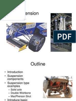 Suspension Ppt | Suspension (Vehicle) | Steering