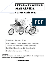 4ª BICICLETADA FAMILIAR TOMÁS ÁLVIRA