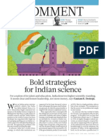 Bold Strategies for Indian Science
