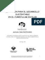 Educación para el desarrollo sustentable en el curriculum escolar
