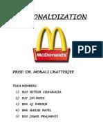 Mcdonaldization Final