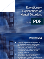 Topic 2-Evolutionary Explanations of Mental Disorders