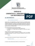 Unidad II Cinematica 1