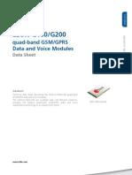Leon g100 g200 Datasheet(Gsm.g1 Hw 10004)
