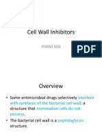 Cell Wall Inhibitors