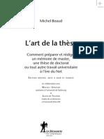 Lart de La These_avant_propos