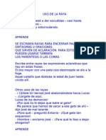 USO DE LA RAYA