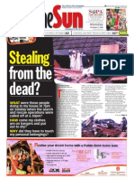 Thesun 2008-12-15 Page01 Stealing From the Dead