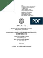 Economic Impact of Libraries in New York City