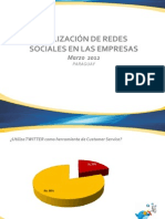 Utilización de Redes Sociales en las Empresas - 3er Entrega (última)