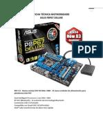 Ficha Tecnica Motherboard ASUS P8P67 DELUXE