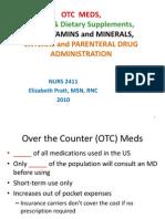 Cam Therapies, Vitamins, Otc Student