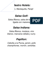Tipos de Salsas