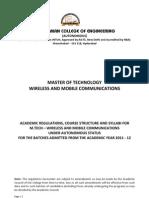 Academic Regulations M.tech - ECE WMC
