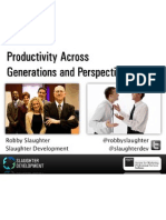 Productivity Across Generations and Perspectives