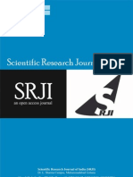 Scientific Research Journal of India SRJI Vol-1 No-2 Year 2012