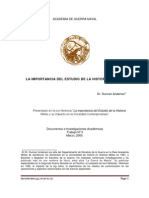 La Importancia Del Estudio de La Historia Militar Dr.anderson