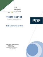 MEC-302 Term Paper