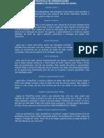 Protocolo de apresentações
