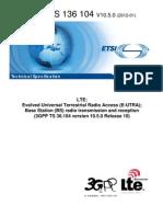 3gpp Ts 36 104 (Lte Enb TX and Rx)