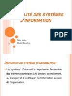 La qualité des systèmes d'information