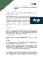 Reglamento Premio ESET 2012