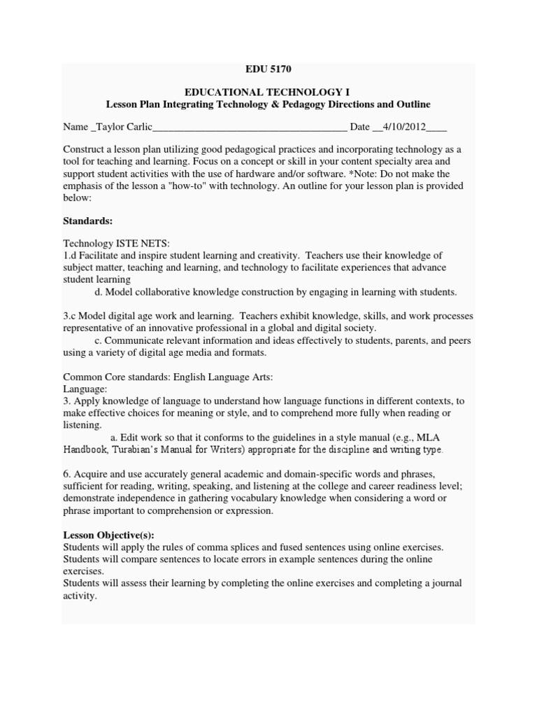 worksheet Comma Splice Worksheet lesson plan comma plan