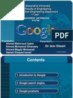 Google Presentation 2008
