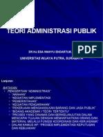 teori administrasi publik