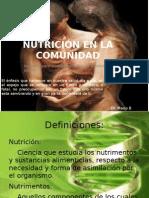 NUTRICIÓN EN LA COMUNIDAD