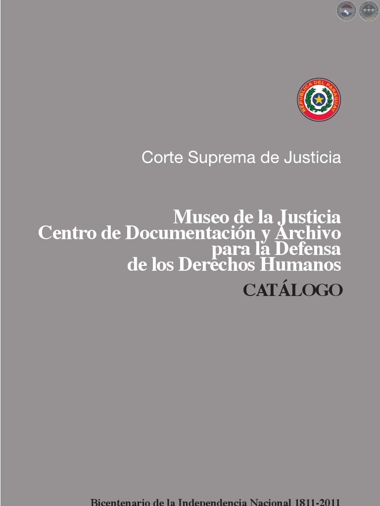 Cat Logo Museo De Justicia Documentaci N Y Archivo Para La  # Muebles Narciso Caaguazu