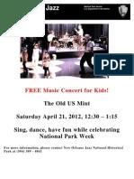 Concert Flyer April