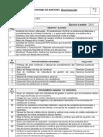 Ejemplo Del Programa de Auditoria de Gestion Comercial