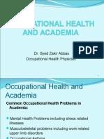 Occupational Health and Academia 1[1]
