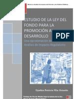 Análisis de Impacto Regulatorio. Fondo para la Promoción al Desarrollo