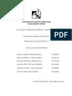 Trabajo de aplicación práctica I, Historia del análisis económico I