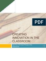 edu 709 creating innovation in the classroom by lisa collingwood durbin