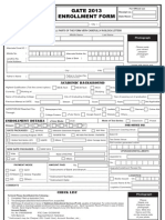 Enrollment Form 2013