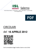 Circolari Del 16 APRILE 2012