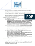 Kids and Communities First Fund Amendment Overview