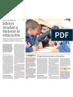 Jóvenes líderes ayudarán a mejorar la educación en el Perú
