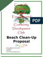 Beach Clean Up Proposal