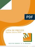 ListaPrecios madecentro