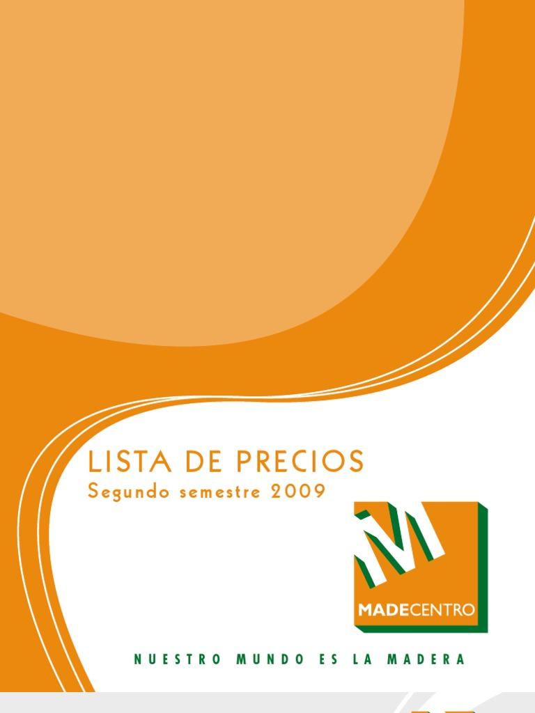 Listaprecios madecentro for Casillas de madera precios